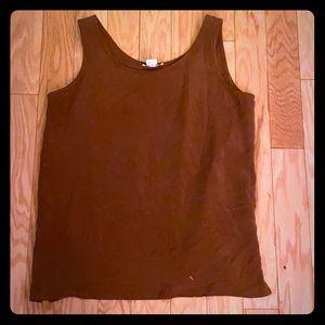 Patrick 100% silk brown sleeveless blouse